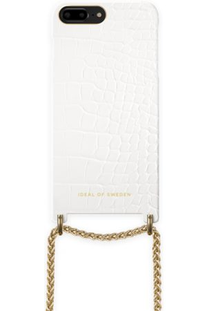 Ideal of sweden Lilou Necklace Case White Croco iPhone 8 Plus