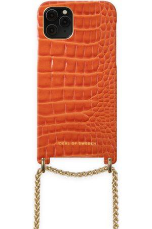 Ideal of sweden Lilou Necklace Case Orange Croco iPhone 11 Pro
