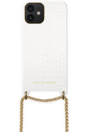 Ideal of sweden Lilou Necklace Case White Croco iPhone 12