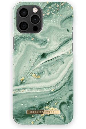 Ideal of sweden Fashion Case iPhone 12 Pro Max Mint Swirl Marble