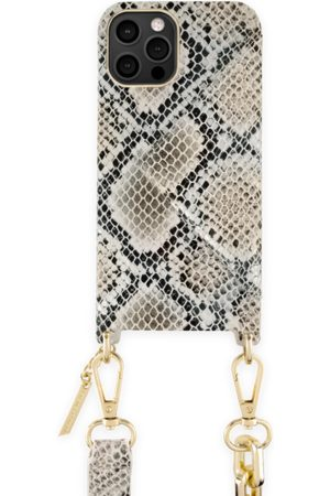 Ideal of sweden Statement Phone Necklace Case iPhone 12 Pro Max Beige Shimmery Snake
