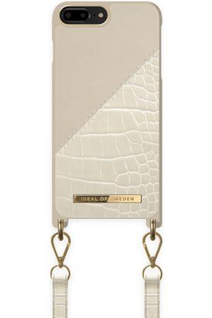 Ideal of sweden Atelier Phone Necklace Case iPhone 8 Plus Cream Beige Croco