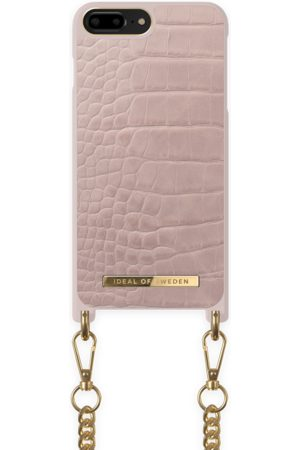 Ideal of sweden Necklace Case iPhone 8P Misty Rose Croc