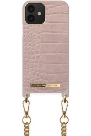 Ideal of sweden Necklace Case iPhone 12 Misty Rose Croco