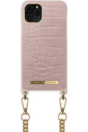 Ideal of sweden Necklace Case iPhone 11 PRO Misty Rose Croco