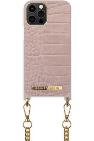 Ideal of sweden Necklace Case iPhone 12 Pro Max Misty Rose Croco
