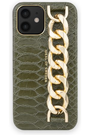 Ideal of sweden Statement Case iPhone 12 Mini Green Snake Chain Handle