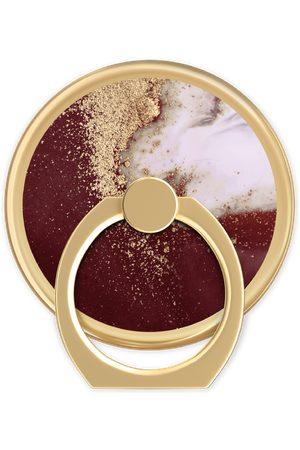 Ideal of sweden Magnetic Ring Mount Golden Burgundy Marble