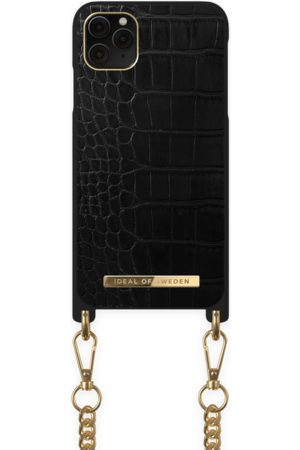 Ideal of sweden Necklace Case iPhone 11 PRO MAX Jet Black Croco