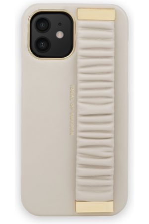 Ideal of sweden Statement Case iPhone 12 Ruffle Cream Top-Handle