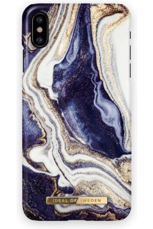 Ideal of sweden Fashion Case iPhone X Golden Indigo marble