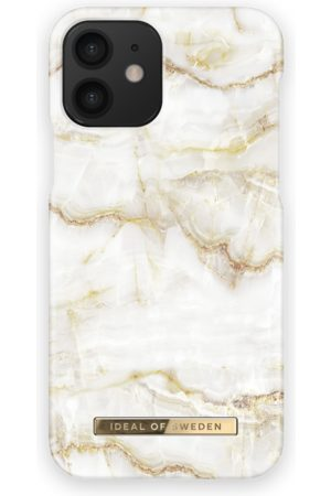 IDEAL OF SWEDEN Dames Telefoon - Fashion Case iPhone 12 Golden Pearl Marble
