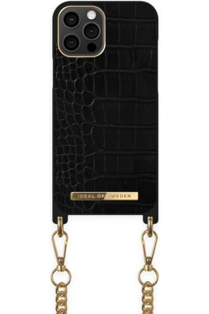 Ideal of sweden Necklace Case iPhone 12 Pro Max Jet Black Croco