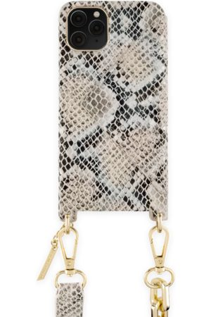 Ideal of sweden Statement Phone Necklace Case iPhone 11 Pro Beige Shimmery Snake