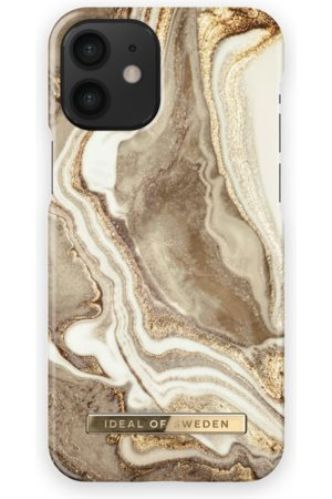 Ideal of sweden Telefoon - Fashion Case iPhone 12 Mini Golden Sand Marble
