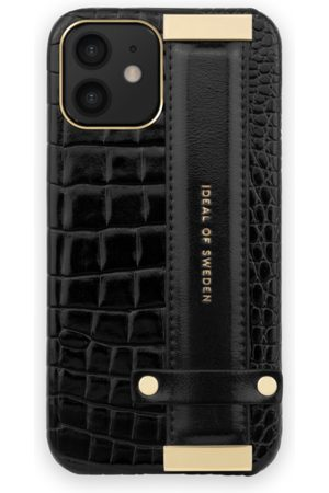 Ideal of sweden Statement Case iPhone 12 Mini Neo Noir Croco Strap Handle