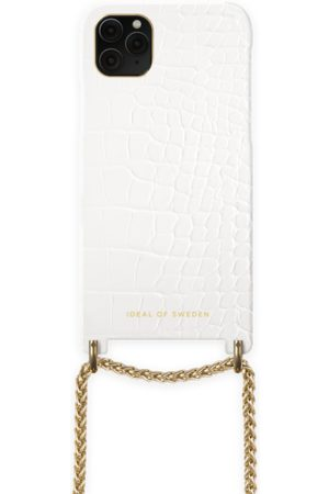 Ideal of sweden Lilou Necklace Case Whte Croco iPhone 11 Pro Max