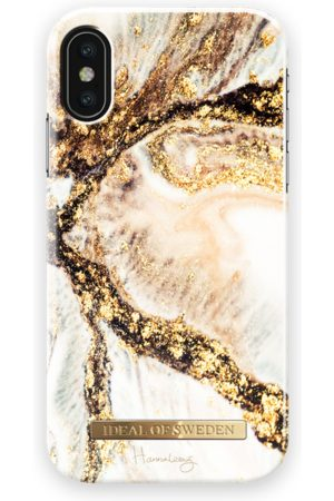 Ideal of sweden Fashion Case Hannalicious iPhone X Golden Swirl