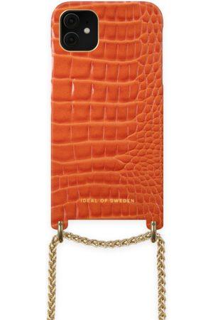 Ideal of sweden Lilou Necklace Case Orange Croco iPhone 11