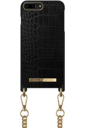 Ideal of sweden Necklace Case iPhone 8P Jet Black Croco