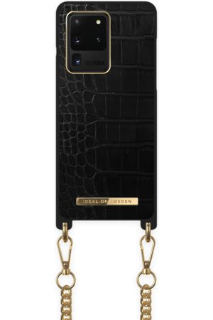 Ideal of sweden Necklace Case Galaxy S20 Ultra Jet Black Croco