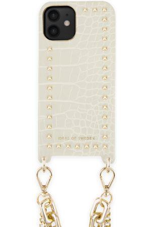 Ideal of sweden Statement Phone Necklace Case iPhone 12 Beatstuds Cream Croco