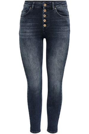ONLY Onlblush Life Hw Ankle Skinny Jeans Dames Blauw