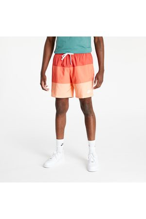 Nike Heren Shorts - Sportswear City Edition Men's Woven Shorts Lobster/ Magic Ember/ Crimson Bliss/ White