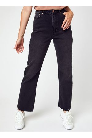 NA-KD Dames Straight - Straight High Waist Raw Hem Jeans by