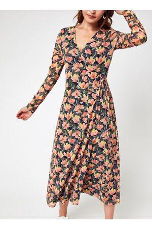 NA-KD Dames Midi jurken - Overlap Midi Dress by