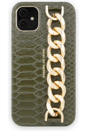 Ideal of sweden Dames Telefoon - Statement Case iPhone 11 Green Snake - Chain handle