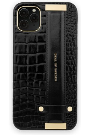 Ideal of sweden Dames Telefoon - Statement Case iPhone 11 Pro Max Neo Noir Croco Strap Handle