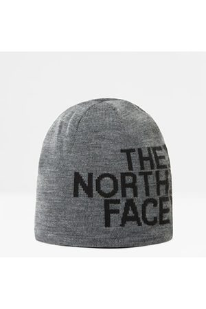 The North Face The North Face Tweezijdig Draagbare Beanie Met Tnf-banner Tnf Medium Grey Heather/tnf Black One Size Dame
