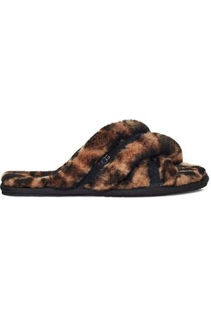 UGG W Scuffita Panther Print voor Dames in Butterscotch, maat 36