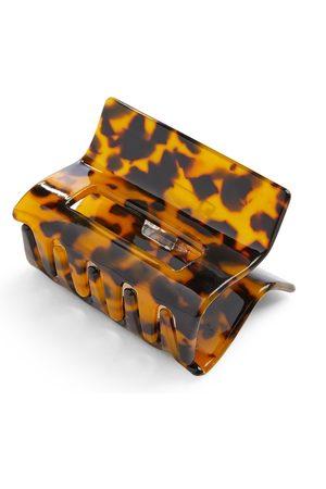 Primark Faux tortoiseshell rectangle bulldog hair clip