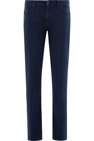 Pt, Heren Pantalons - Pantaloni Torino 5-pocket Heren Donkerblauw Cotton Stretch