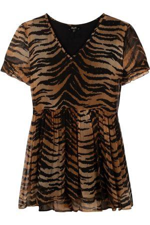 Alix the label Dames Geprinte jurken - Tijger Print Jurk