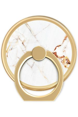 IDEAL OF SWEDEN Dames Telefoon - Magnetic Ring Carrara Gold Marble
