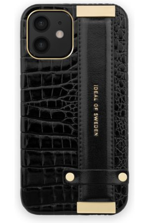 Ideal of sweden Statement Case iPhone 12 Neo Noir Croco Strap Handle