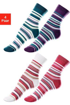 Lavana Meisjes Sokken & Kousen - Sokken met streepdessin (4 paar)