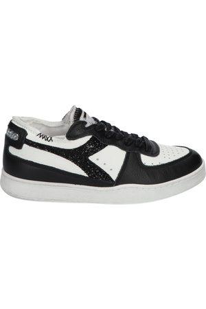 Diadora Dames Sneakers - Mi Basket Row Cut White Black