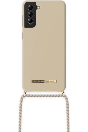 Ideal of sweden Dames Telefoon - Ordinary Necklace Case Galaxy S21 Plus Cream Beige