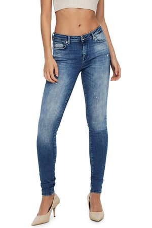 ONLY Dames Skinny - Jeans Blauw 15237326
