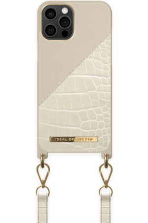 Ideal of sweden Atelier Phone Necklace Case iPhone 12 Pro Max Cream Beige Croco