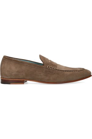 Manfield Heren Loafers - Taupe suède loafers
