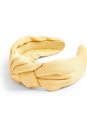 Primark Yellow satin knot headband