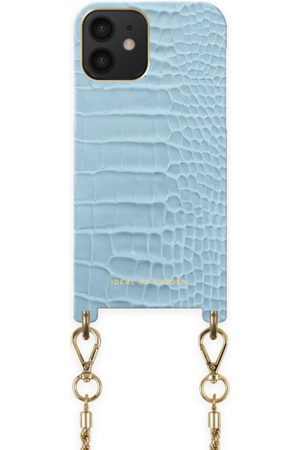 IDEAL OF SWEDEN Telefoon - Atelier Necklace Case iPhone 12 Sky Blue Croco