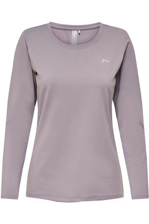 ONLY Lange Mouw Sport Shirt Dames Paars