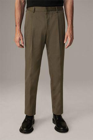 Strellson Combinatiepantalon met bandplooien Jef #wearindependent, olijfgroen