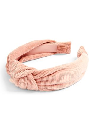 Primark Blush soft corduroy knot headband